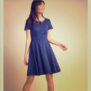ModCloth Playlist Professional Striped A-line Dre